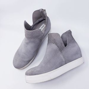 Steve Madden Winni  Gray Suede Platform Sneakers